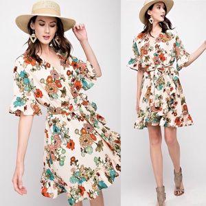 EMILY vintage inspired floral print dress